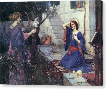 The Annunciation Canvas Print by John William Waterhouse