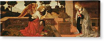 The Annunciation Canvas Print by Lorenzo di Credi