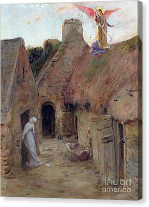 Messenger Canvas Print - The Annunciation by Luc Oliver Merson