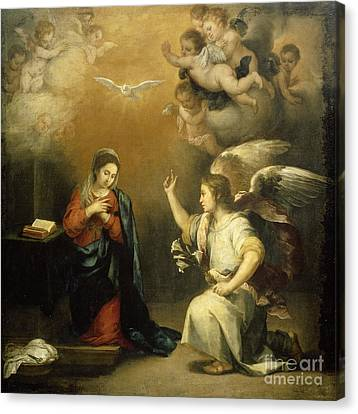 The Annunciation To Mary Canvas Print by Celestial Images