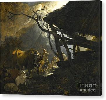 The Annunciation To The Shepherds Canvas Print by Celestial Images
