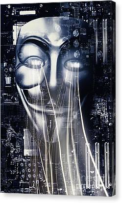 Motherboard Canvas Print - The Anonymous Eyes Of Civil Unrest by Jorgo Photography - Wall Art Gallery