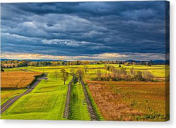 Civil War Battle Site Canvas Print - The Antietam Battlefield by John M Bailey