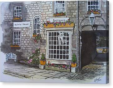 The Antique Shop Canvas Print by Victoria Heryet