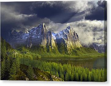 The Anvils Of Thor Canvas Print by Dieter Carlton