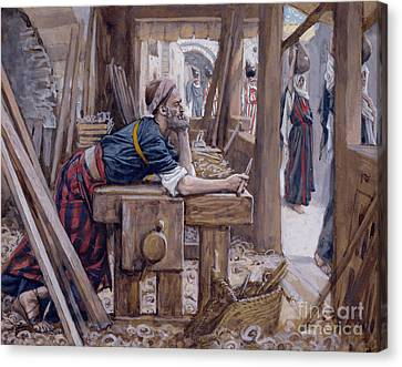 Considering Canvas Print - The Anxiety Of Saint Joseph by James Jacques Joseph Tissot