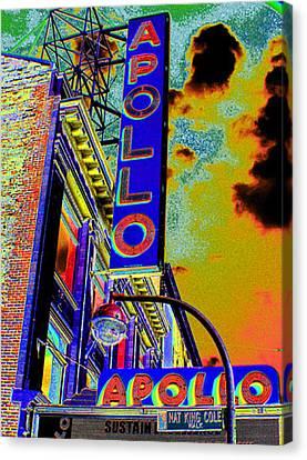 Apollo Theater Canvas Print - The Apollo by Steven Huszar