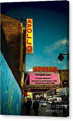 Apollo Theater Canvas Print - The Apollo Theater by Ben Lieberman
