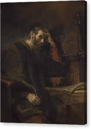 Worship God Canvas Print - The Apostle Paul by Rembrandt Van Rijn