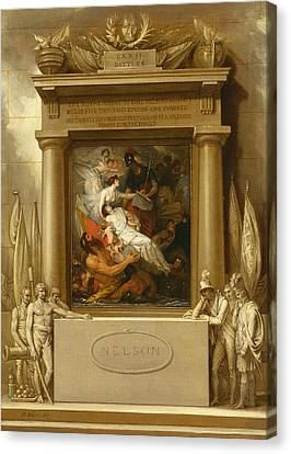 The Apotheosis Of Nelson Canvas Print by Benjamin West