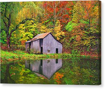 The Appalachian Reflection Canvas Print by Bijan Pirnia
