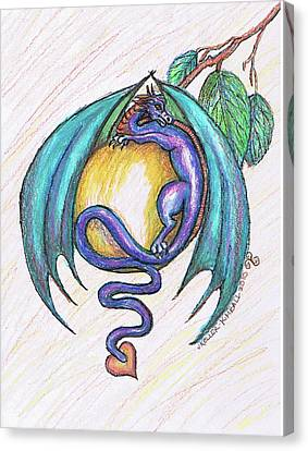 The Apple Dragon Canvas Print