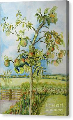 The Apple Tree Canvas Print by Joan Thewsey