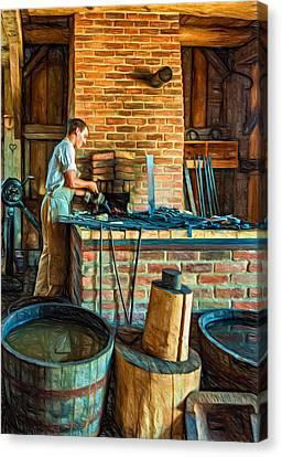 The Apprentice 3 - Paint Canvas Print by Steve Harrington