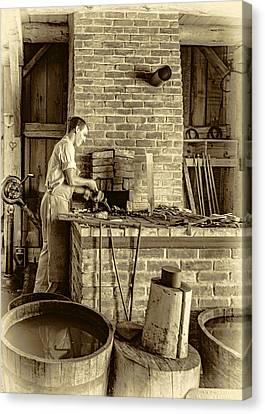 The Apprentice 3 - Sepia Canvas Print by Steve Harrington