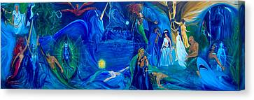 Aquarian Canvas Print - The Aquarian Family Tree  by Jennifer Christenson