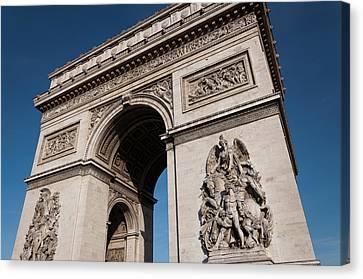 The Arc De Triomphe Canvas Print by D Plinth