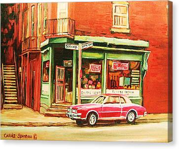 The Arcadia Five And Dime Store Canvas Print by Carole Spandau