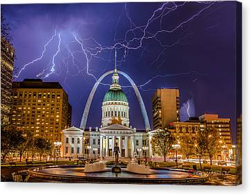 The Arch And The Bolts Canvas Print by Chris Martin
