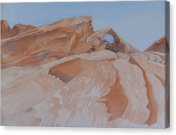 Canvas Print featuring the painting The Arch Rock Experiment - Vi by Joel Deutsch