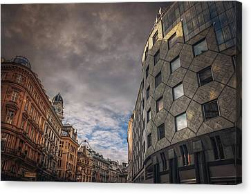 Haus Canvas Print - The Architecture Of Vienna  by Carol Japp