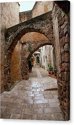 The Archways Of Villecroz Canvas Print by Jacqi Elmslie