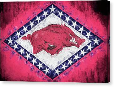 The Arkansas Razorbacks Canvas Print