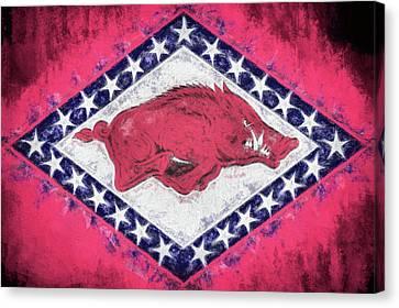 The Arkansas Razorbacks Canvas Print by JC Findley