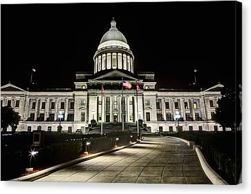 The Arkansas State Capitol Building Canvas Print by JC Findley