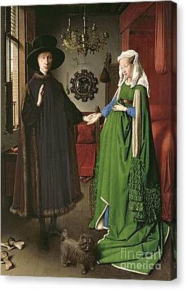 Husband Canvas Print - The Arnolfini Marriage by Jan van Eyck