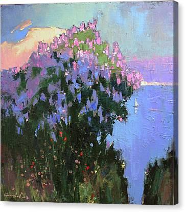 Canvas Print featuring the painting The Aroma Of Wandering by Anastasija Kraineva
