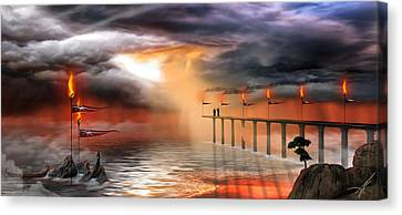 Canvas Print featuring the photograph The Arrival by Anthony Citro