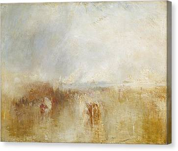 Clarence Canvas Print - The Arrival Of Louis by Joseph Mallord William Turner