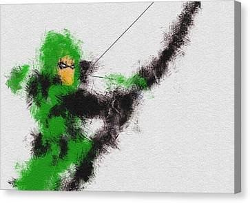 Character Portraits Canvas Print - The Arrow Of Justice by Miranda Sether