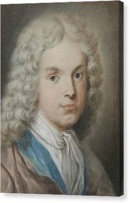 The Art Collector And Artist Antonio Maria Zanetti The Elder Canvas Print by Rosalba Carriera