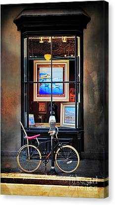 Canvas Print featuring the photograph The Art Gallery Bicycle by Craig J Satterlee