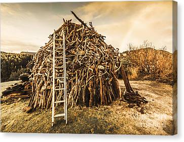 Woodpile Canvas Print - The Art Of Bonfires by Jorgo Photography - Wall Art Gallery