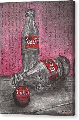 The Art Of Coca Cola Canvas Print by Maria Kobalyan