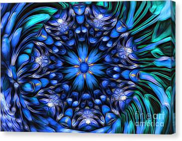 The Art Of Feeling Centered Canvas Print by Mary Lou Chmura