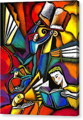 The Art Of Learning Canvas Print by Leon Zernitsky