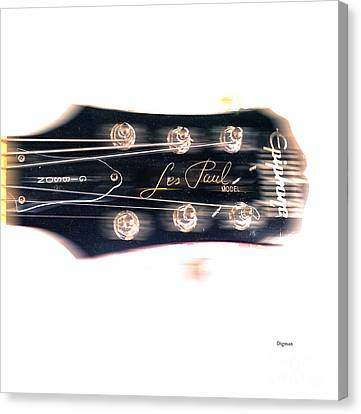 Les Paul Epiphone  Canvas Print by Steven Digman