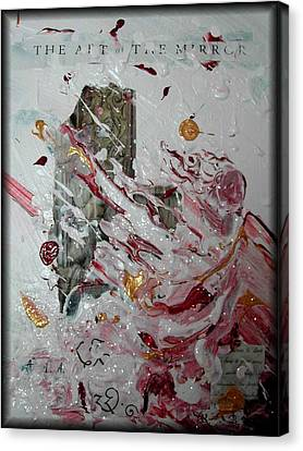 The Art Of The Mirror Canvas Print by Rebecca Tacosa Gray
