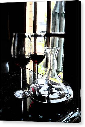 The Art Of Wine Canvas Print by Alicia Morales