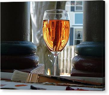 Vintner Canvas Print - The Art Of Wine by Shelly Wilkerson