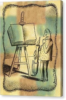 The Art Of Writing Canvas Print by Leon Zernitsky