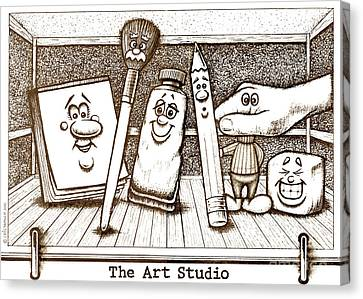 The Art Studio Canvas Print by Cristophers Dream Artistry