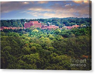 The Artesian Hotel In The Forest In Horizontal Canvas Print by Tamyra Ayles