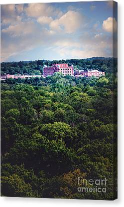 The Artesian Hotel In The Forest In Vertical Canvas Print by Tamyra Ayles