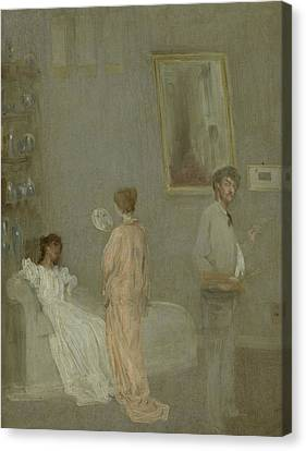 The Artist In His Studio Canvas Print by James Abbott McNeill Whistler