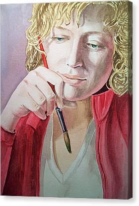 The Artist Canvas Print by Irina Sztukowski
